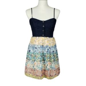 {BOGO} Trixxi Lace Floral Sleeveless Mini Dress